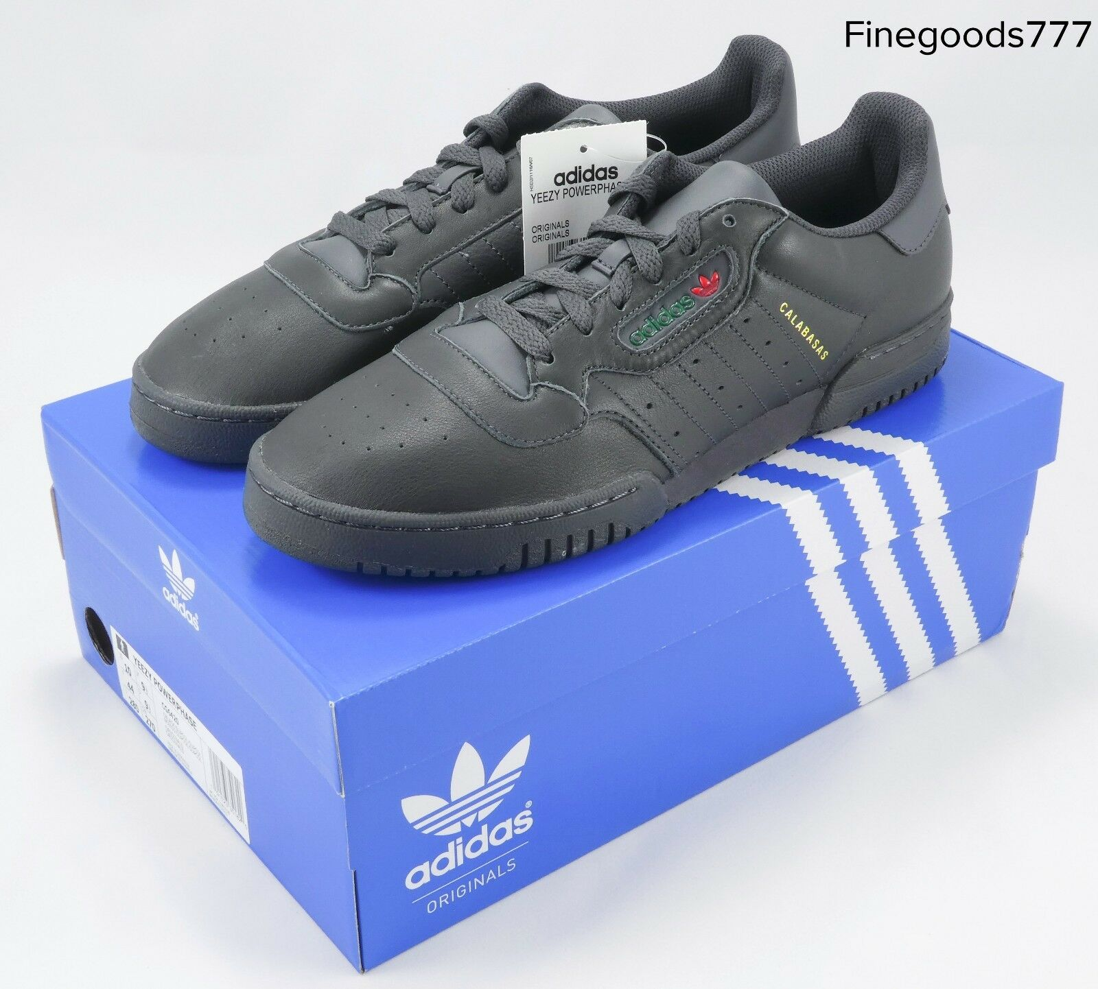 New Yeezy PowerPhase Core Black Men's Athletic Fashion Sneakers CG6420 Size 10