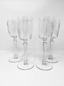 Toscany-Hand-Blown-Hand-Cut-Crystal-Set-of-4-wine-glasses
