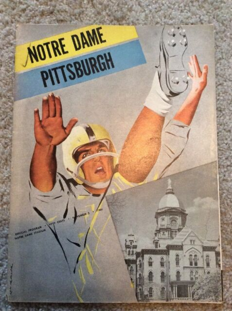 USED 1960 NOTRE DAME FOOTBALL VS PITTSBURGH FOOTBALL PROGRAM