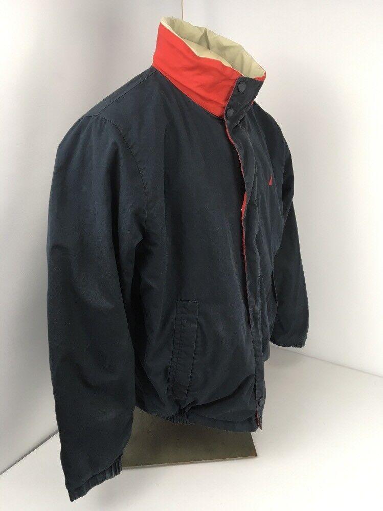 Nautica Jacket Vintage Reversible Bomber Men L La… - image 8