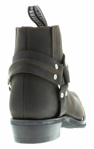 Grinders Renegade Renegade Renegade Lo Brown Unisex Leather Cowboy Biker Ankle Boots shoes UK 5-12 fe18fe