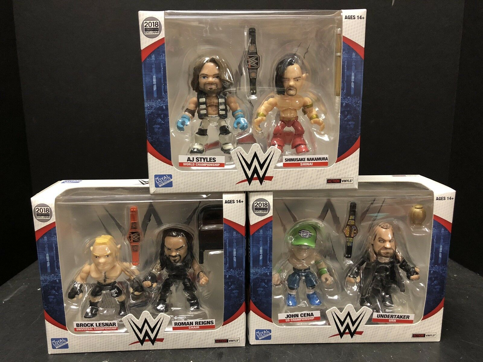 Loyal Subjects 2018 Convention Exclusive Styles Cena Lesnar Lot Of 3 EM1616