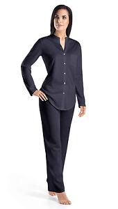 Hanro-Pyjama-Cotton-Deluxe-mercerisierte-Baumwolle-Farbe-ink-Gr-XS-XL