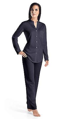 Gr XS-XL Farbe ink Hanro Nachthemd Cotton Deluxe 90cm mercerisierte Baumwolle