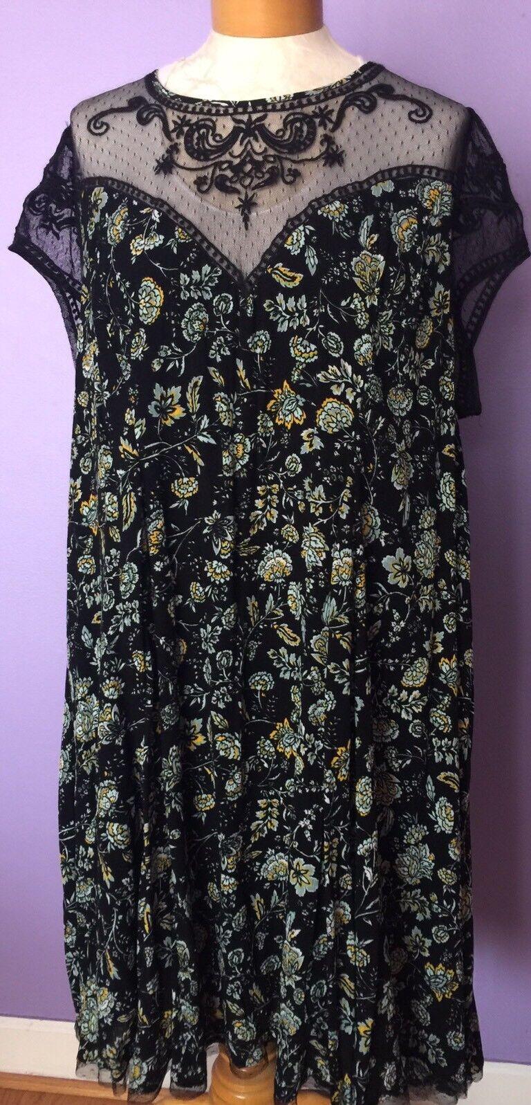 8d39cbab5 Torrid Gauze Mesh Mesh Mesh Insert Dress Floral 5b4b79 - dressstore ...