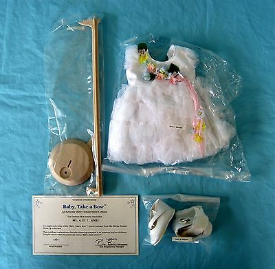 Danbury Mint Shirley Temple Doll Baby Take a Bow Outfit Costume White Dress