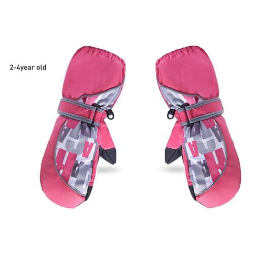 2018 New Children/'s Mittens Warm Wear-resistant Anti-slip Ski Gloves