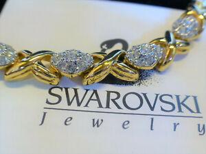 original Swarovski  Halskette Gold mit Steinen - Collier, Kette - in OVP