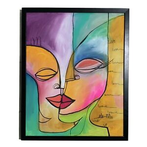 PAINTING-ORIGINAL-ACRYLIC-ON-CANVAS-FRAME-INCLUDED-CUBAN-ART-16-X20-By-Lisa