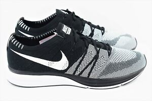 Nike Flyknit Trainer Mens Size 11 Running Shoes Oreo Black White ...