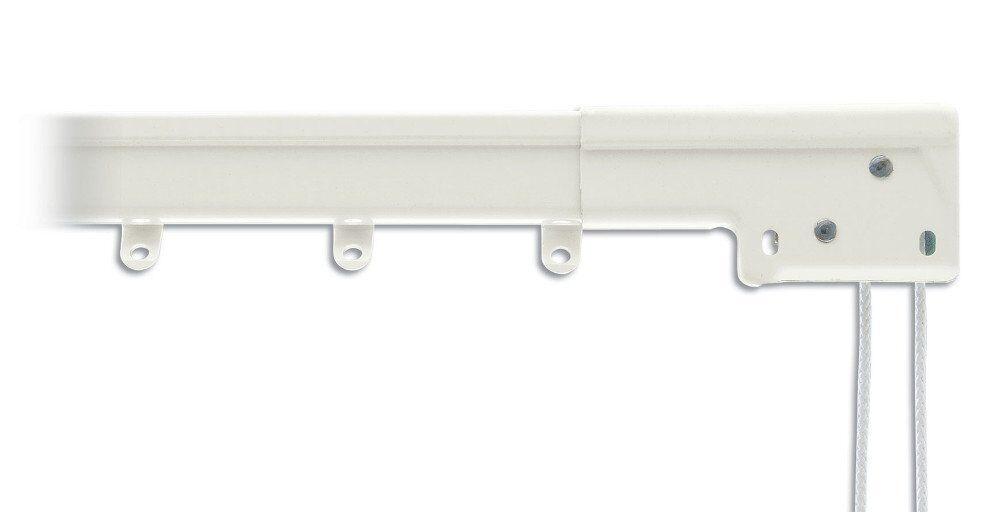 Super Heavy Duty Traverse Curtain Rod 120-228 Inch, Weiß, Center Draw (0-6052-1