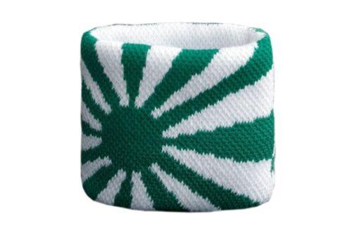 7x8cm bracelet de sport Schweißband Drapeau Drapeau Vert-Blanc 2er Set