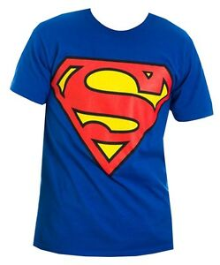 DC-Comics-Superman-Logo-Royal-Blue-Men-039-s-T-Shirt-New