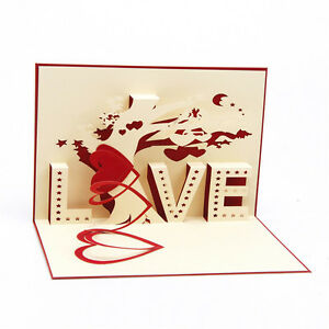 3d pop up greeting cards love wedding birthday valentines image is loading 3d pop up greeting cards love wedding birthday m4hsunfo