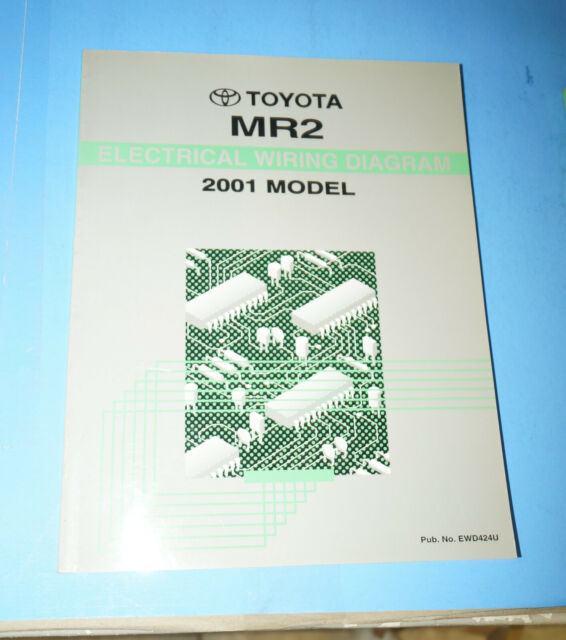 1988 Toyota Mr2 Oem Electrical Wiring Diagram Service Manual Book