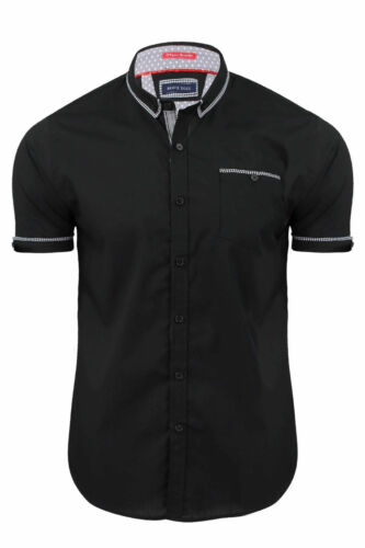 Mens Plain Shirt by Brave Soul /'Mombassa/' Short Sleeved Cotton Casual S M L XL