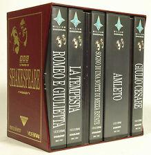 """""""Il Teatro di Shakespeare"""" Cofanetto 6 VHS+Copioni BBC Fonit Cetra Videorai-M6"""