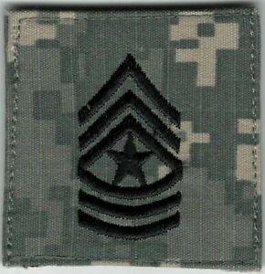 ACU-US-Army-E-9-E9-SGM-Sergeant-Major-Rank-Patch-VELCRO-BRAND-Hook-Fastener