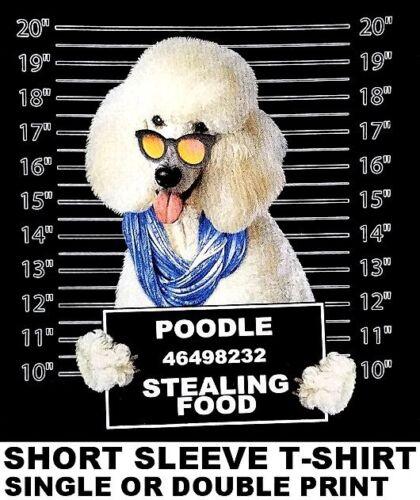 VERY COOL POODLE MUG SHOT FUNNY DOG ART SHORT SLEEVE T-SHIRT WS780