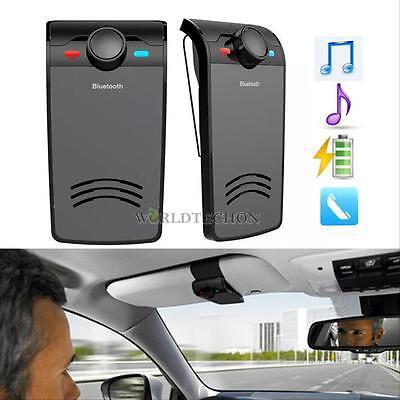 Wireless Bluetooth Hands Free Car Kit Visor Clip Speakerphone Music player Phone