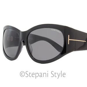 4fb554fe876 Image is loading Tom-Ford-Oval-Sunglasses-TF404-Felicity-01A-Shiny-