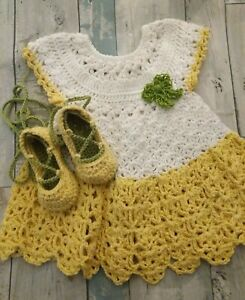6-12-month-Baby-Girl-Crochet-Dress-And-Lace-Up-Ballerina-Shoes