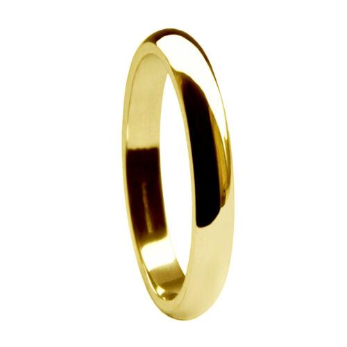 4 5 18 Ct Oro Amarillo D Forma Anillos De Boda pesado 2 3 6 mm 750 banda UK HM H-Z