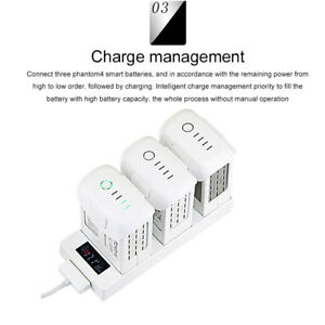 for DJI Mavic Pro Battery Digital Display Charger Intelligent Batteries Charging Hub Steward Quick Charge Accessories 4 in 1