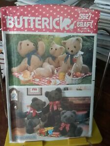 Oop-Butterick-Craft-5627-teddy-bears-21-034-23-034-24-034-traditional-NEW