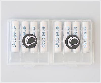 8 x Eneloop Panasonic AAA Akku LR03 + 2x EWANTO Aufbewahrungsbox Batteriebox