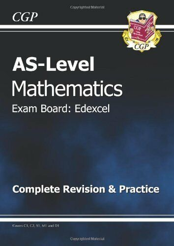 1 of 1 - AS-Level Maths Edexcel Complete Revision & Practice By CGP Books