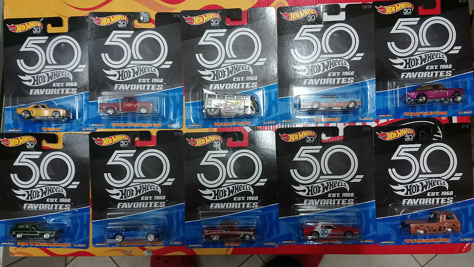 Hot Wheels Favorites 50th Anniversary  Choise Choix lot ou à l'unitè ( N29)