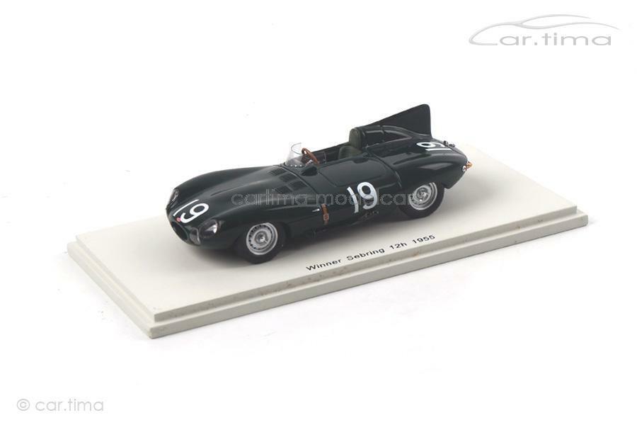 moda classica JAGUAR D-Winner 12h 12h 12h Sebring 1955-Hawthorn Walters-SPARK - 1 43 - 43se55  costo effettivo
