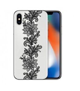 coque iphone xs noir transparente