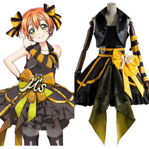 Love-Live-Arcade-3rd-Gen-Rin-Hoshizora-Stage-Suit-Cosplay-Costume-Dress-Outfit