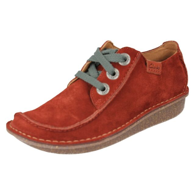 68b06fdfb Ladies Clarks Lace up Casual Shoes Funny Dream Rust Suede UK 3 D for ...