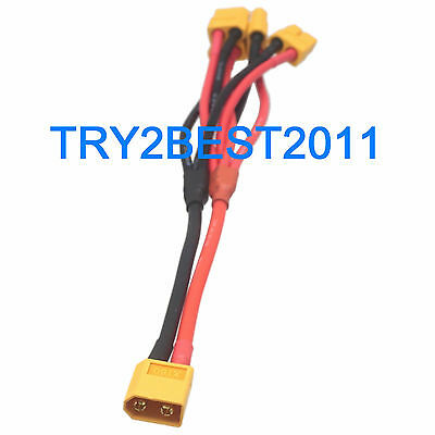 XT60 Connector 1 to 4 Wire Parallel Power Cord Distribution Cable for QuadCopter