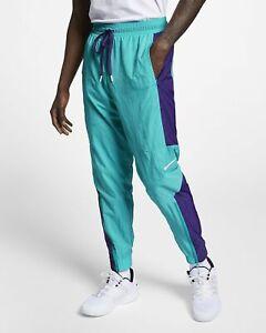 100% Wahr Nike Basketball Hose Herren Rapid Blaugrün Farbblock Active Wear Aj3939-415 Belebende Durchblutung Und Schmerzen Stoppen