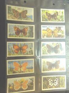 1963-Brooke-Bond-Tea-BRITISH-BUTTERFLIES-butterfly-Trading-set-of-50-cards