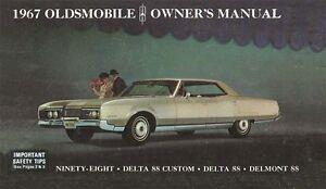 1967 oldsmobile 98 delta 88 owners manual user guide reference rh ebay com Operators Manual oldsmobile owners manual