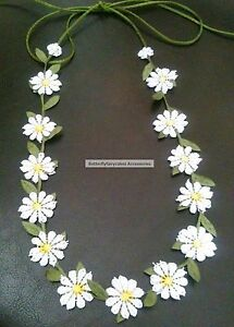 Boho Daisy Chain Garland NecklaceHeadband tie Festival Daisy Necklace Hen Party - <span itemprop='availableAtOrFrom'>Bradford, United Kingdom</span> - Boho Daisy Chain Garland NecklaceHeadband tie Festival Daisy Necklace Hen Party - Bradford, United Kingdom