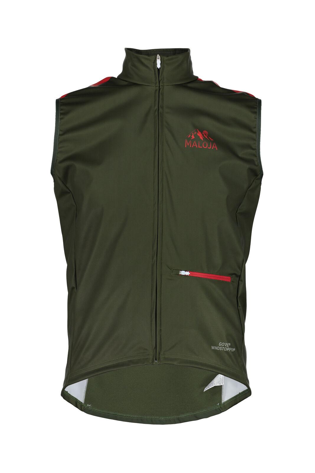 Maloja Cycling Vest Functional Vest Sports Vest Green Prestonm. Windproof