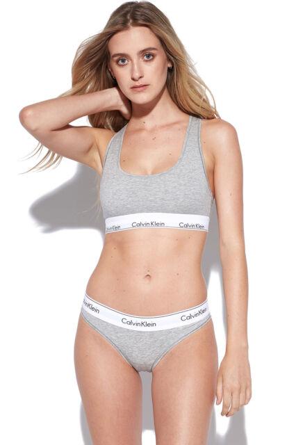 New CALVIN KLEIN Womens Bikini Brief Modern Cotton Grey