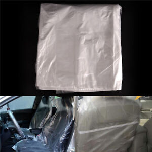 10pcs-Disposable-Plastic-Car-Seat-Covers-Protectors-Mechanic-Valet-Roll-Plast-ZN