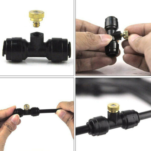 Irrigation Misting Nozzles Kit Patio Cooling System Accessories Set Hose Spray