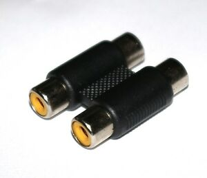 Cinch-Doppelkupplung-PA-Stecker-Adapter