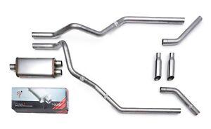 2009-2019 Chevy Silverado Magnaflow Mandrel Dual Truck Exhaust Kit Chrome Tips