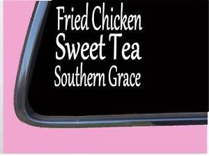 Gebraten-Huhn-Sweet-Tee-Sud-Grace-TP185-Vinyl-6-034-Abziehbild-Jesus-Christus