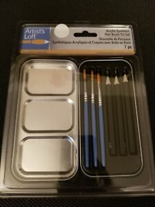 Watercolor Natural Hairbrush Tin Set By Artist/'s Loft 7 pc New