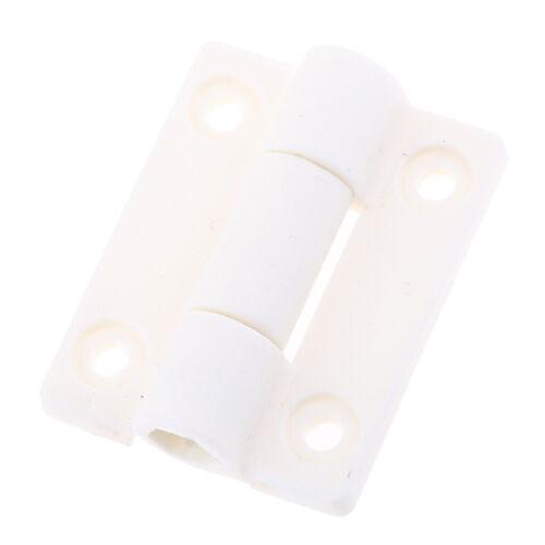 Weiß 36mm X 30mm 4 Senklöcher Kunststoff Butt Scharnier Geeignet für